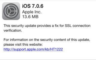 ios 7 0 6 320x201 iOS 7.0.6 est disponible