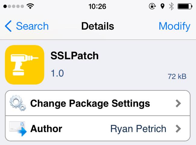 sslpatch Cydia : SSLPatch corrige la faille SSL diOS
