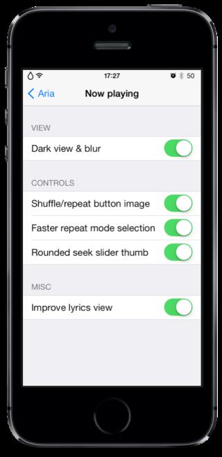 Aria 4 320x659 Cydia : Aria, un peu de changement pour votre application Musique