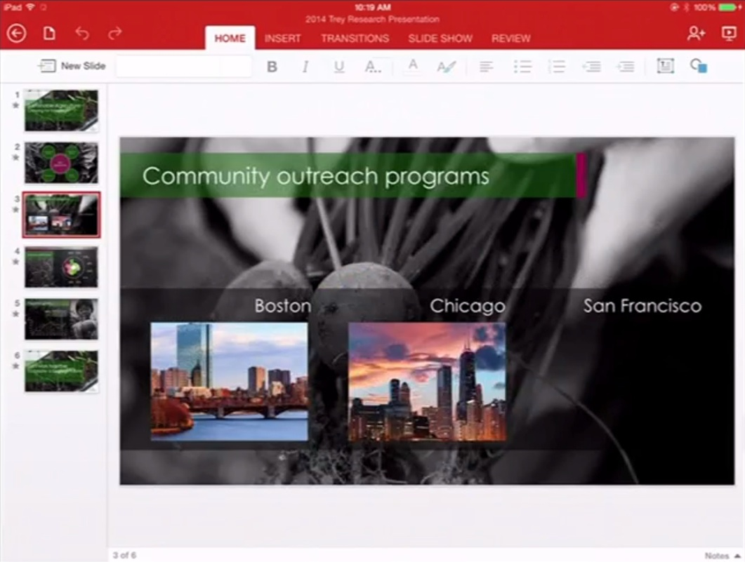 PowerPoint iPad 2 Office pour iPad (enfin) disponible