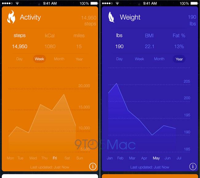 healthbook cards iOS 8 : Tous les détails sur la nouvelle application Healthbook
