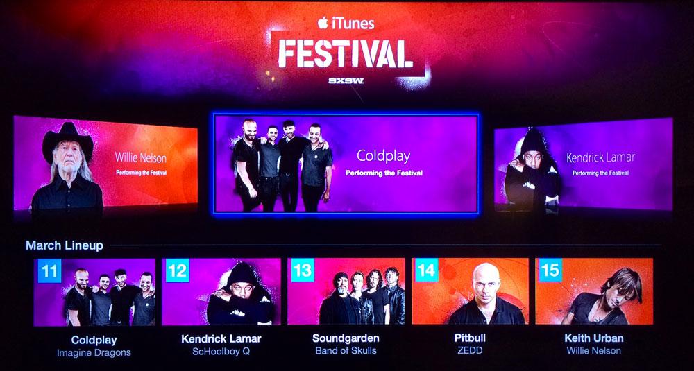 iTunesFestival iTunes Festival de retour sur lApple TV