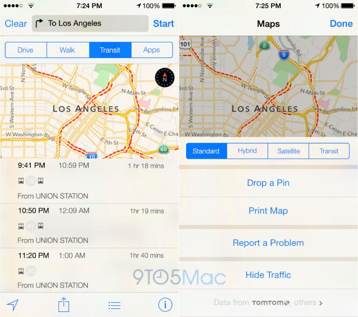 maps transit Apple améliore Plans en vue diOS 8