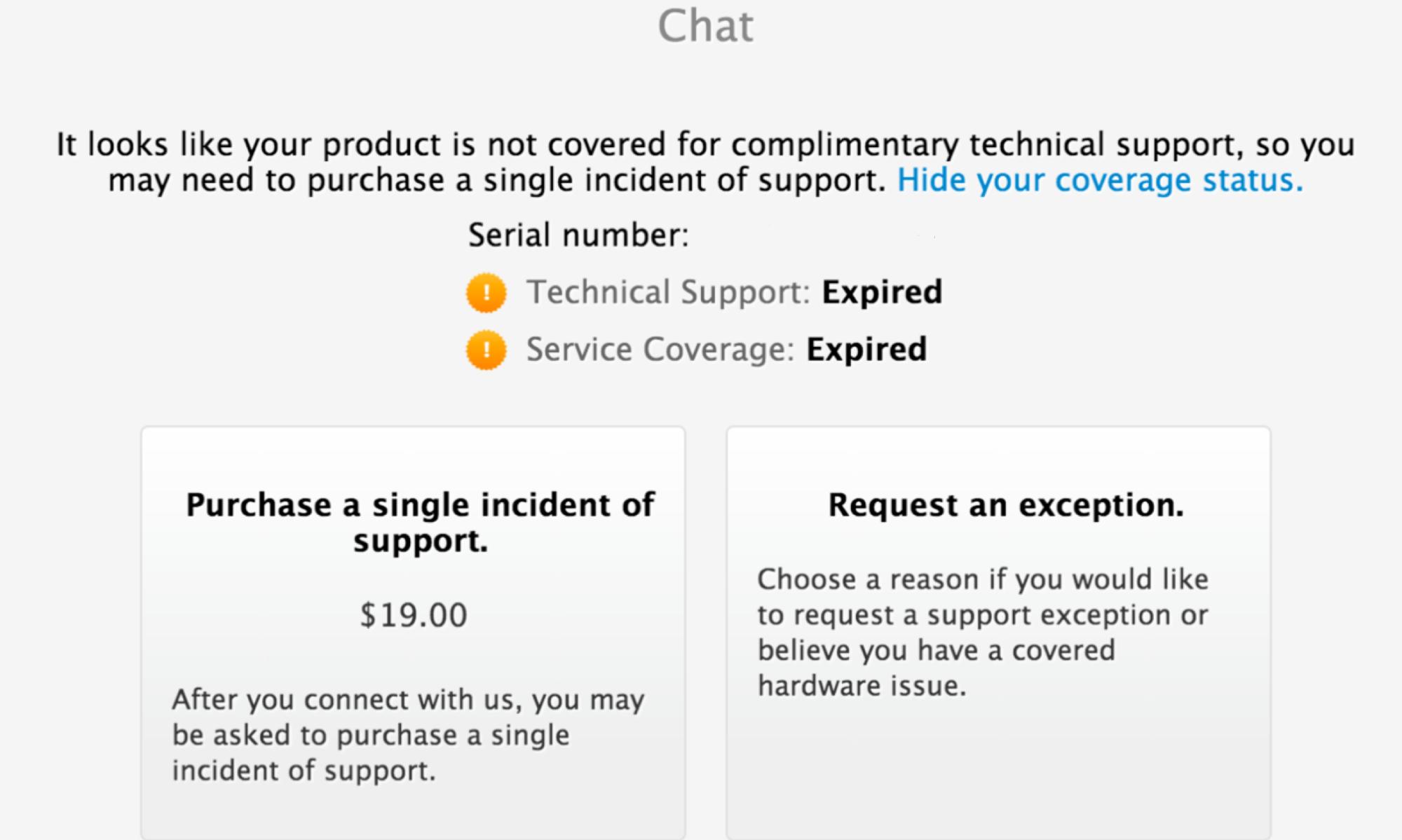 online paid chat support Le support hors garantie par Chat bientôt payant