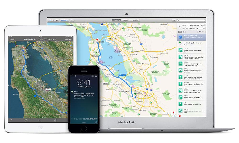 plans ios 8 UK : Apple Maps domine le trafic de cartographie chez EE