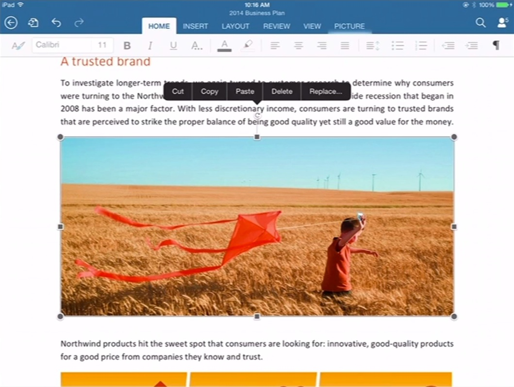 word iPad 2 Office pour iPad (enfin) disponible