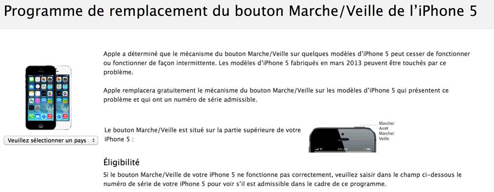 Apple Apple lance un nouveau programme de réparation pour liPhone 5