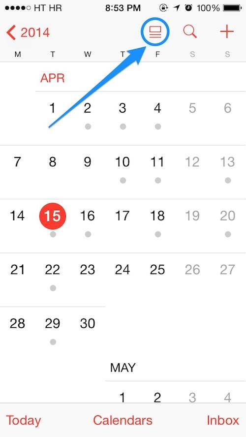 Calendrier iOS 7.1 11 [Tuto] Afficher votre calendrier en liste sous iOS 7.1
