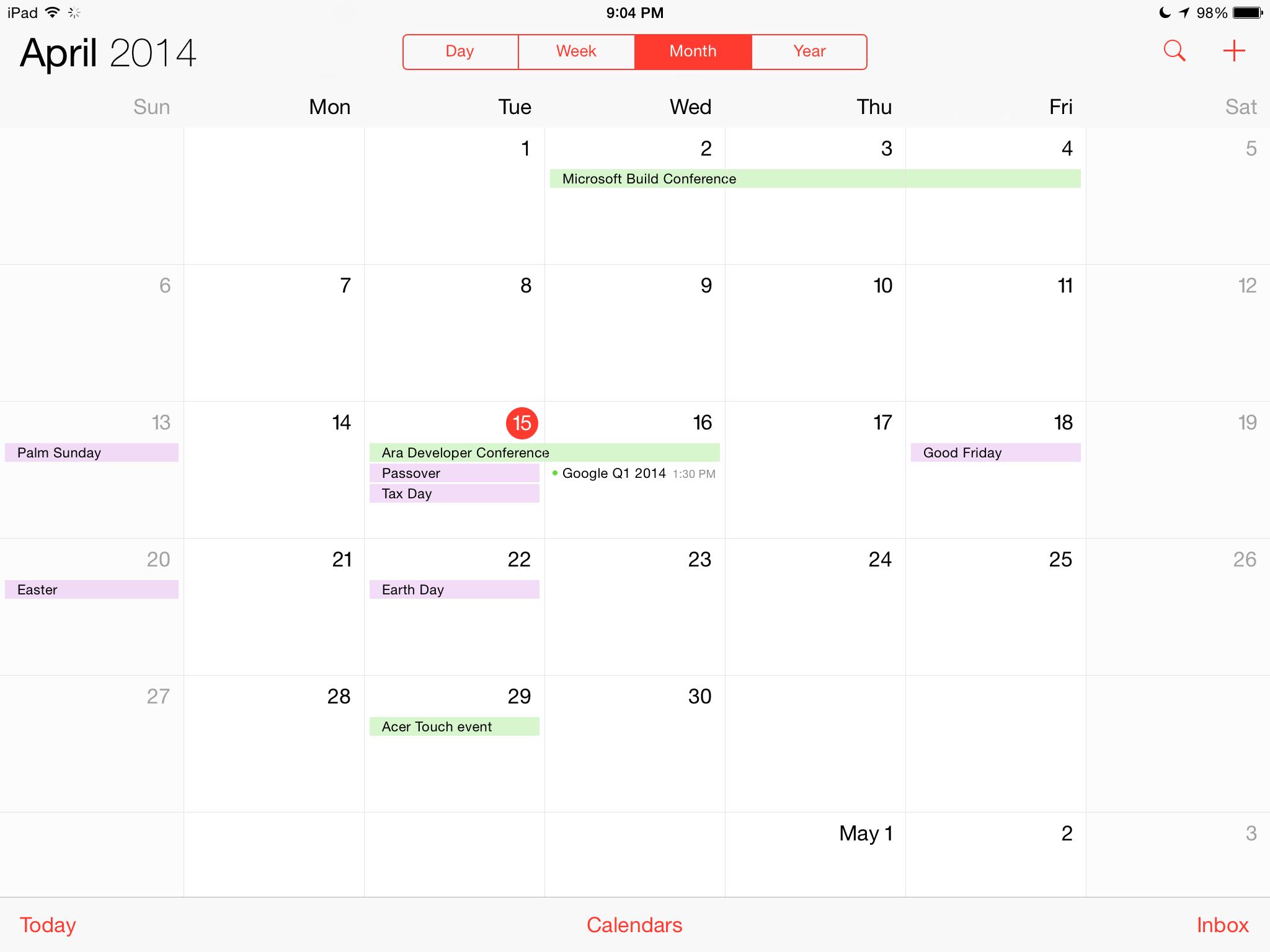 Calendrier iOS 7.1 2 [Tuto] Afficher votre calendrier en liste sous iOS 7.1