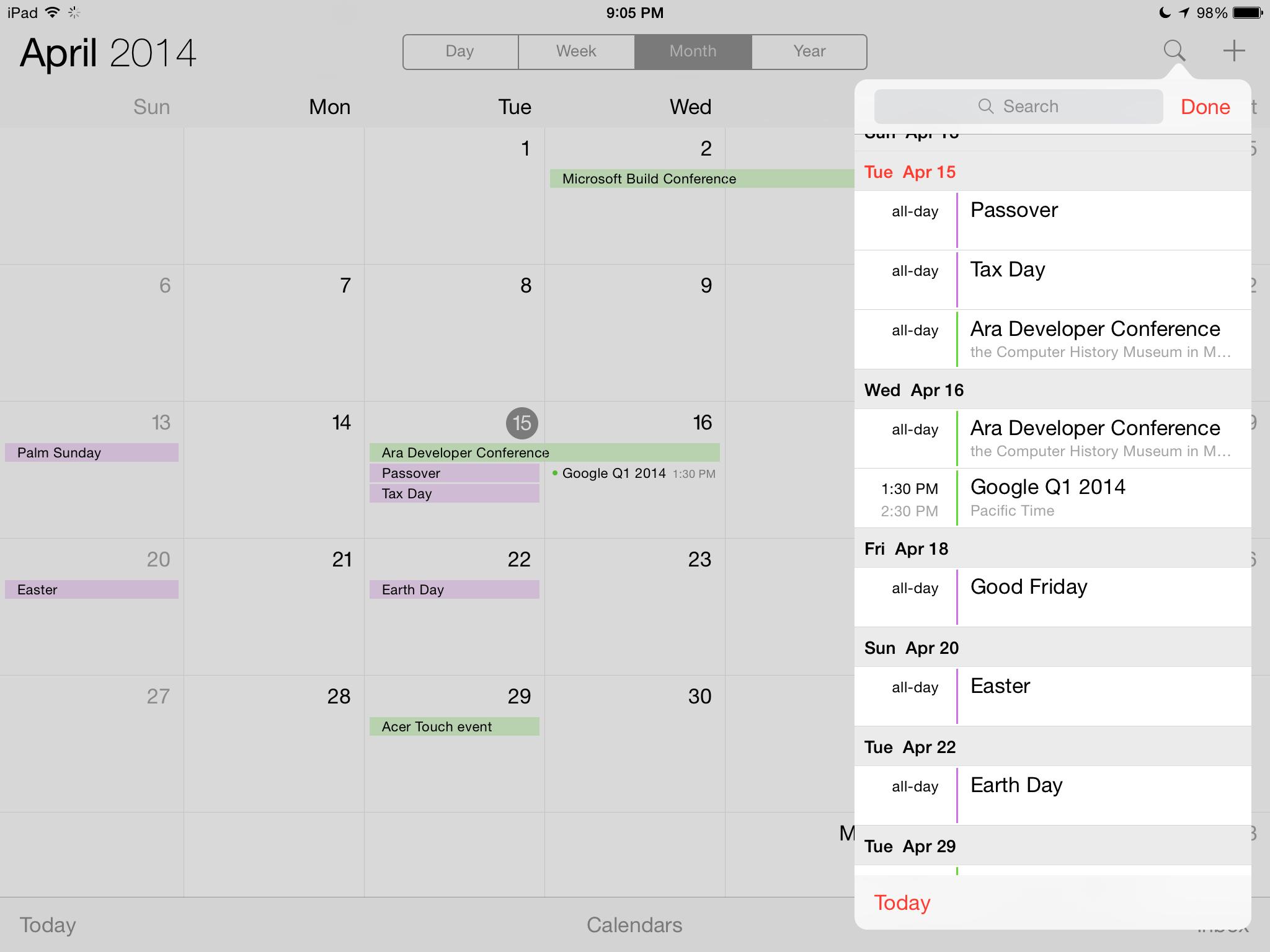 Calendrier iOS 7.1 3 [Tuto] Afficher votre calendrier en liste sous iOS 7.1