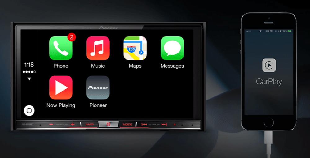 CarPlay CarPlay sur système Pioneer : sobre, simple mais très efficace