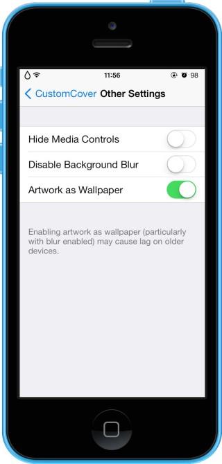 CustomCover 1 320x670 Cydia : CustomCover, personnalisez laffichage des pochettes dalbums