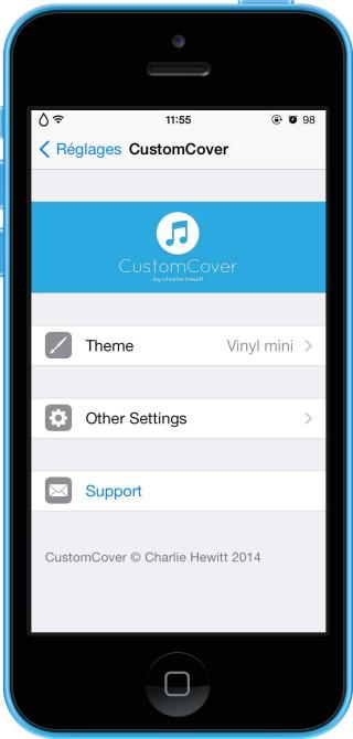 CustomCover 7 320x670 Cydia : CustomCover, personnalisez laffichage des pochettes dalbums