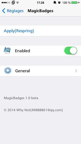 MagicBadges11 [Cydia] MagicBadges vous permettra de personnaliser vos badges
