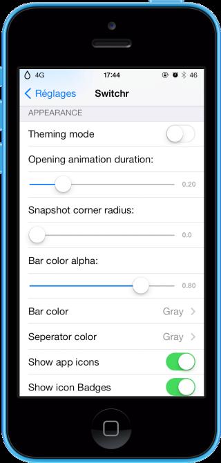 Switchr 6 320x670 Cydia : Switchr, une alternative discrète au multitâche