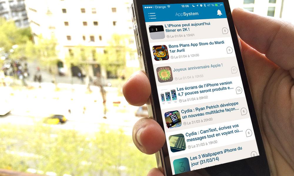 appsystem iphone iPhone3GSystem et AppSystem font peau neuve (MàJ)