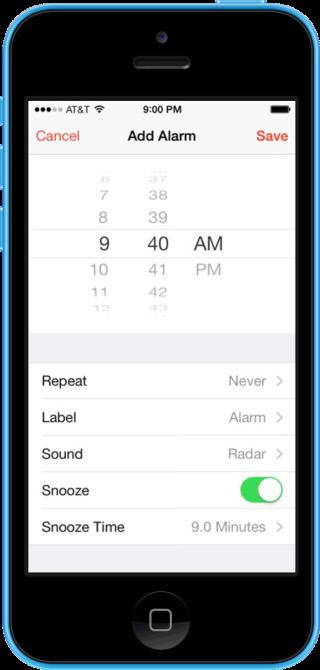 snooze0 320x670 Cydia : Snooze, définissez le délai de rappel de chacune de vos alarmes