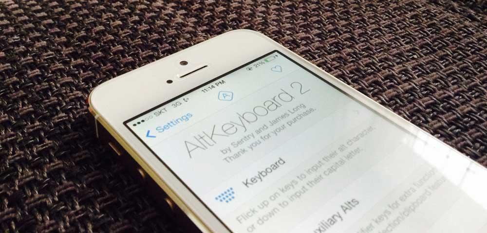 AltKeyboard 2 Cydia : AltKeyboard 2 pour iOS 7 est disponible