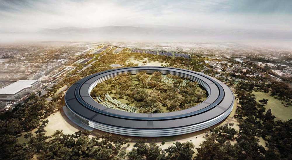 Apple Campus Nouvelle photo aérienne du futur campus dApple