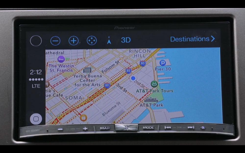 Pioneer CarPlay 0 CarPlay sur système Pioneer : sobre, simple mais très efficace