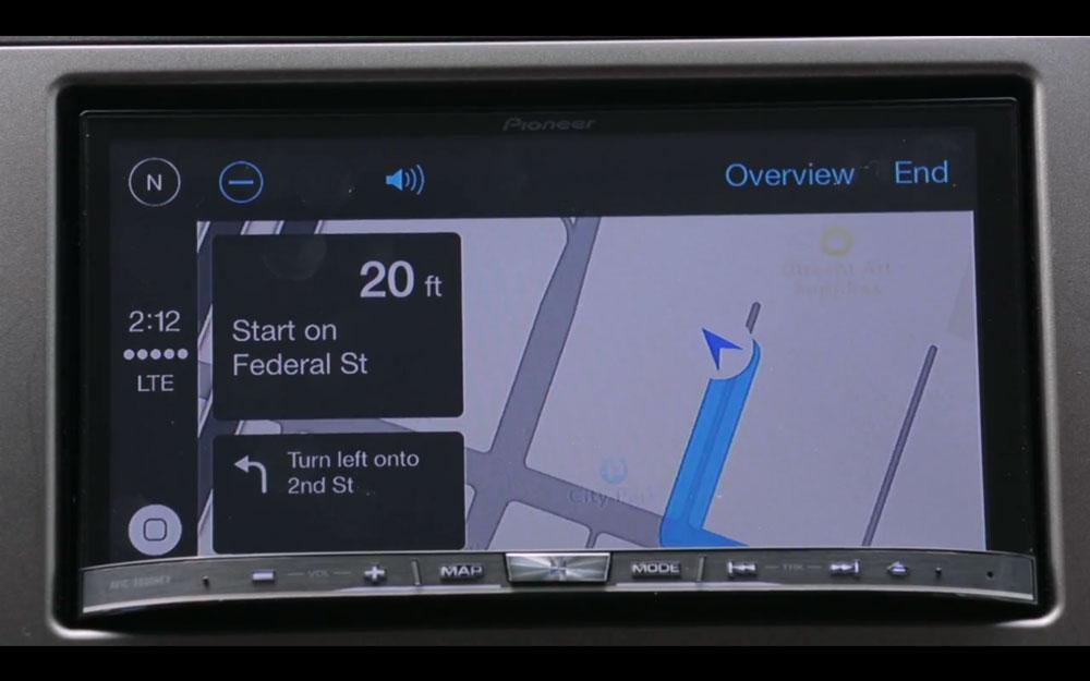 Pioneer CarPlay 1 CarPlay sur système Pioneer : sobre, simple mais très efficace