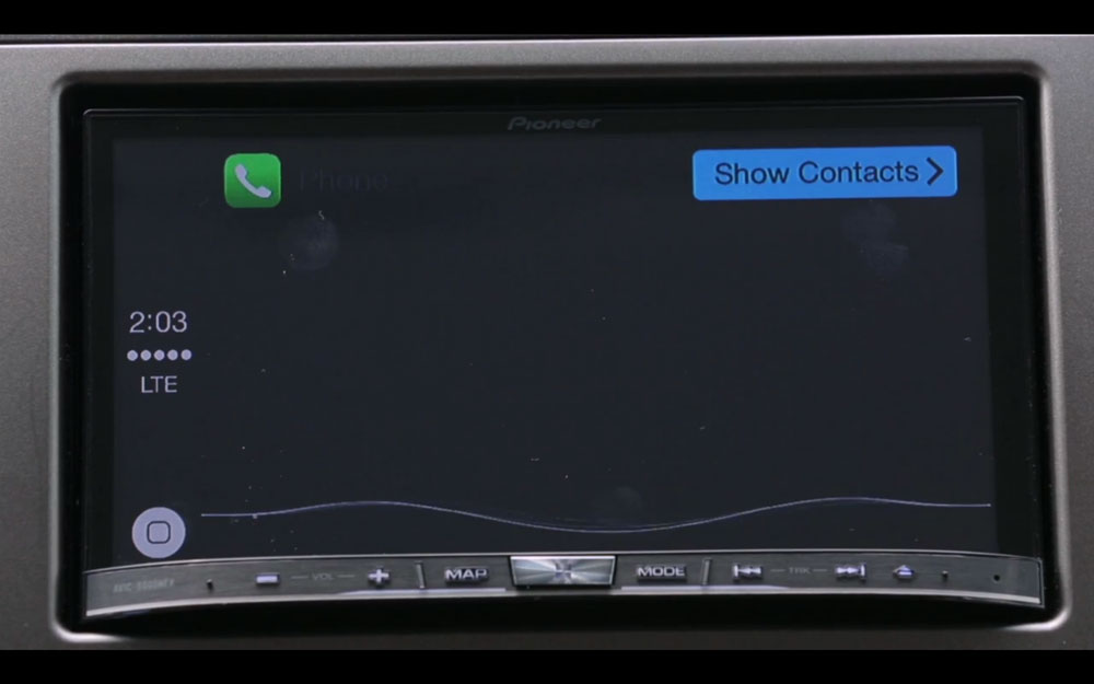 Pioneer CarPlay 2 CarPlay sur système Pioneer : sobre, simple mais très efficace