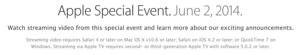 WWDC Keynote2 WWDC 2014 : Apple diffusera le keynote du 2 juin en direct