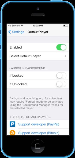 defaultplayer 320x670 Cydia : DefaultPlayer, choisissez le player par défaut diOS