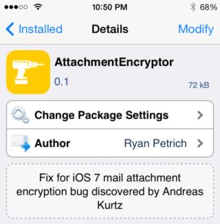 encrypt tweak 320x326 Cydia : Ryan Petrich patch le problème des mails sous iOS 7