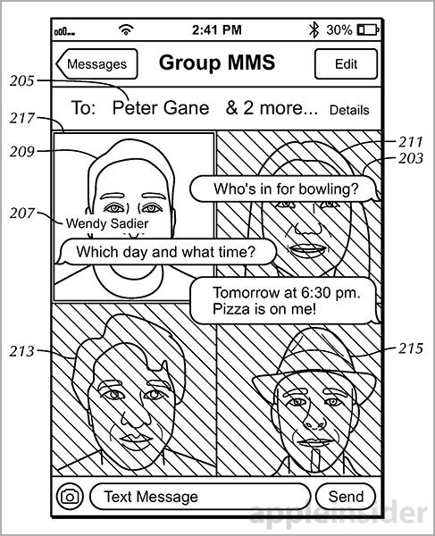 messages background patent 2 Nouveau brevet dApple concernant linterface de lapplication Messages