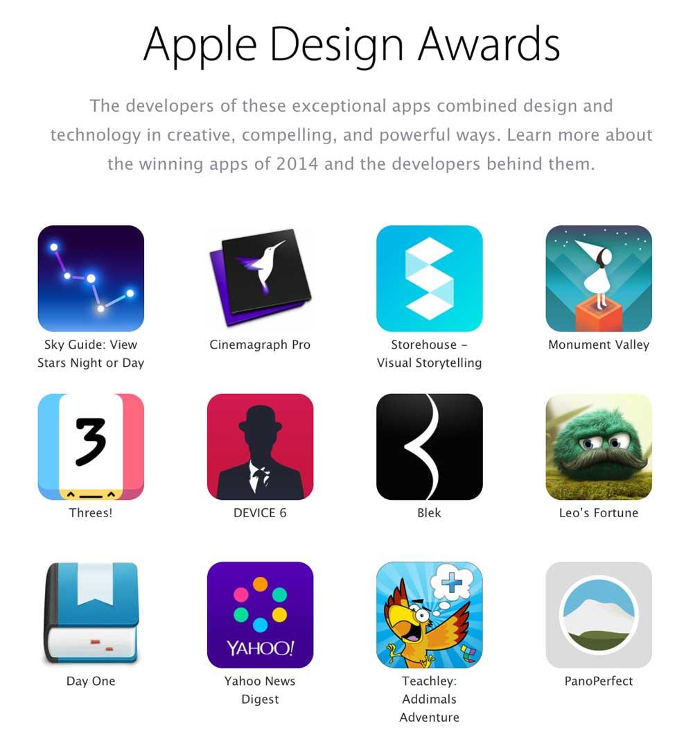 ADA Découvrez les gagnants des trophées Apple Design Awards