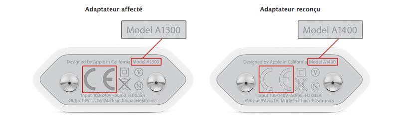 chargeurs iphone remplacement Apple lance un programme de remplacement de chargeurs diPhone