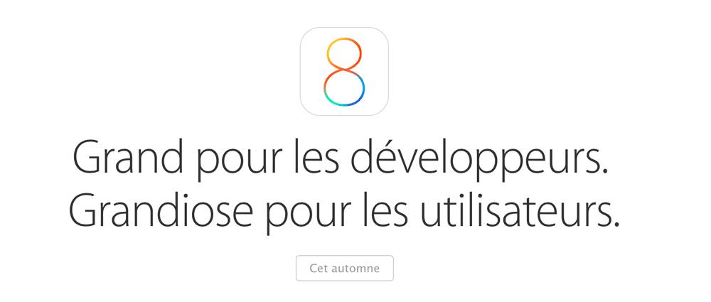 iOS81 iOS 8.0.1 en approche !