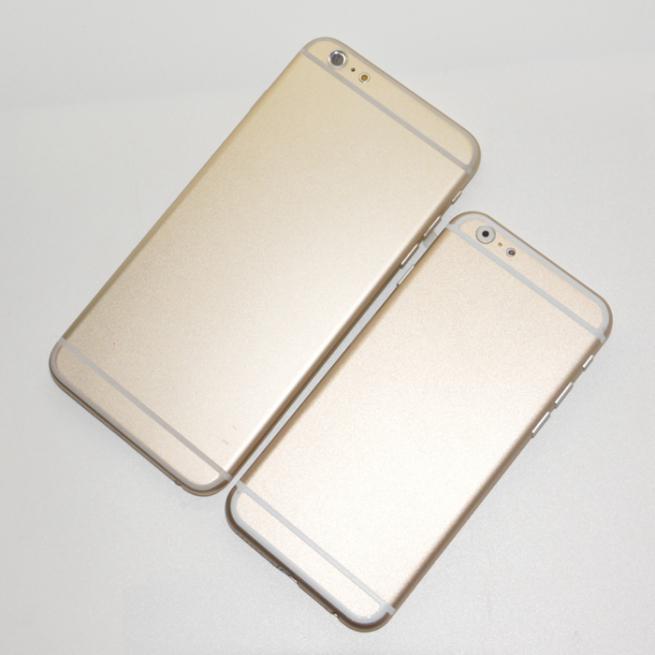 iphone 6 back sonny dickson Comparaison entre liPhone 6 de 4,7 et 5,5 pouces