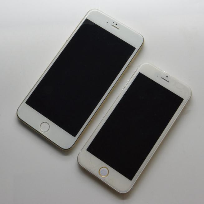 iphone 6 front sonny dickson Comparaison entre liPhone 6 de 4,7 et 5,5 pouces