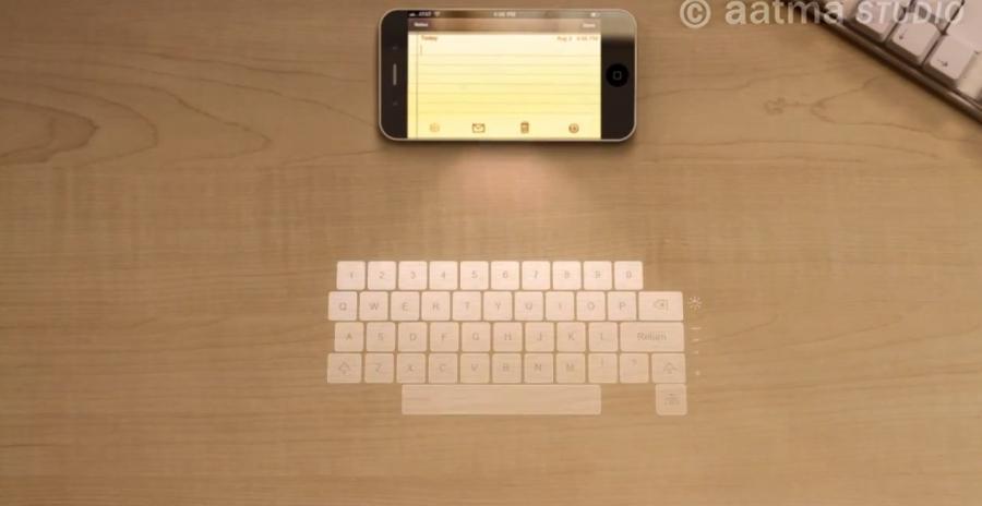 iphone clavier virtuel Apple vient de breveter un système de périphériques virtuels