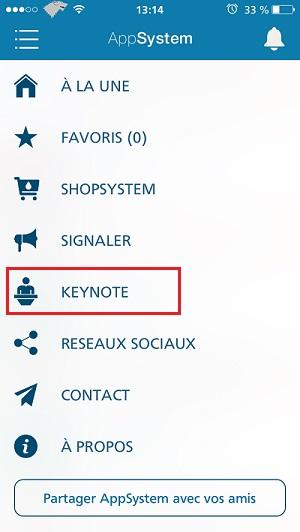 keynote 1 Suivez le keynote en direct sur AppSystem dès 18h