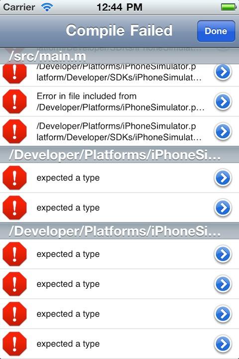 minicode4 Cydia : miniCode, un Xcode porté sur iOS