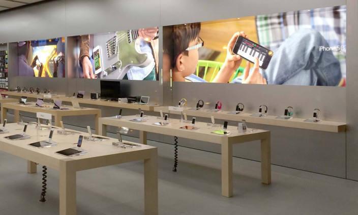 Apple Store nouveau design Apple s'inspire de ses pubs pour relooker ses Apple Store