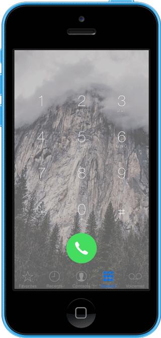 SleekPhone Cydia : SleekPhone offre de la transparence dans lapplication Téléphone