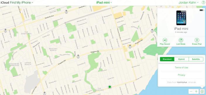 apple maps find my iphone icloud Apple abandonne Google Maps au profit de Plans