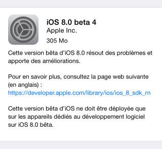 iOS8beta4 320x294 [MAJ] iOS 8 bêta 4 est disponible pour les développeurs