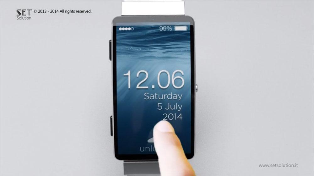 iWatch SET Solution Nouveau concept diWatch avec écran 2,5 pouces incurvé et iOS 8