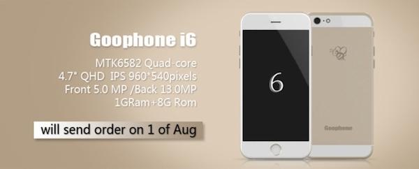 image GooPhone Wico i6, le clone sous Android de liPhone 6 se dévoile