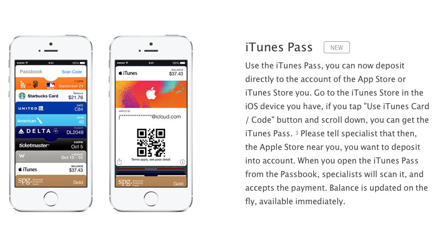 itunes pass iTunes Pass désormais disponible en France