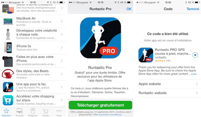 runtastic pro disponible gratuitement dans l apple store appsystem. Black Bedroom Furniture Sets. Home Design Ideas