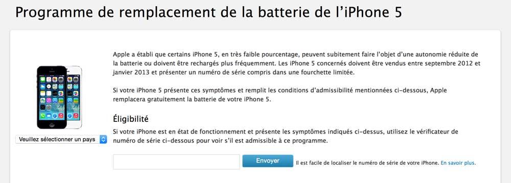 Capture d'écran 2014 08 23 à 11.47.34 Nouveau programme de remplacement pour la batterie de liPhone 5