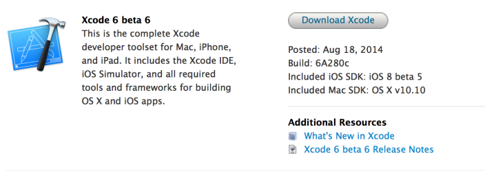 OS X Yosemite Developer Preview 6 2 Apple a lancé OS X Yosemite Developer Preview 6
