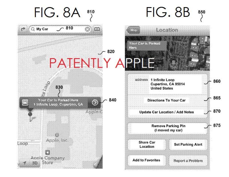 brevet apple parking auto 5 Un brevet Apple pour localiser une voiture en stationnement