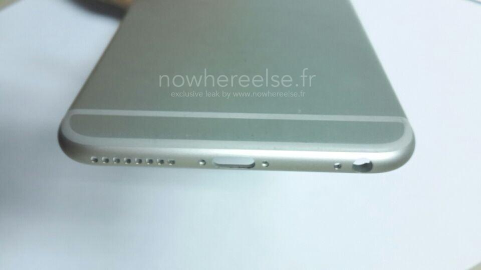 iPhone 6 Air Coque Grise 03 Le châssis de liPhone Air pointe le bout de son nez...
